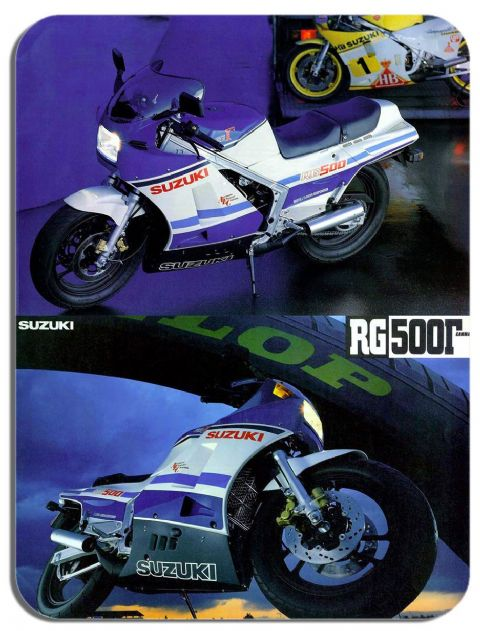 Vintage RG500 Gamma 1985 Ad Mouse Mat. Motorcycle Motorbike Biker Gift Mouse pad